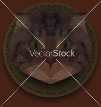 Free polygonal mosaic of head of cat vector - бесплатный vector #235321