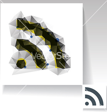 Gratis rss feed vector símbolo de triangular - vector #235391 gratis