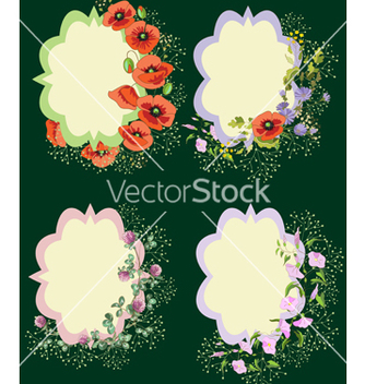 Free floral cards vector - vector gratuit #235501