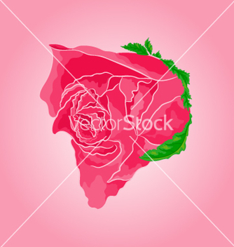 Free beautiful rose simple symbol of love vector - Free vector #235571