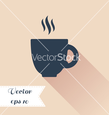 Free cofee cup silhouette icon vector - Free vector #235581