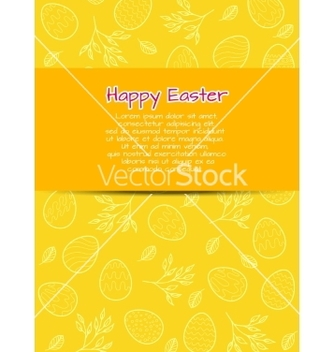 Free flyer template for easter vector - vector gratuit #235601