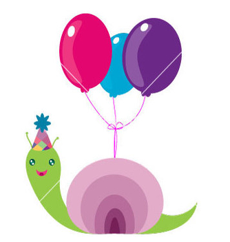 Free snail birthday vector - бесплатный vector #235741