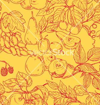 Free fruit outline pattern vector - Free vector #235771