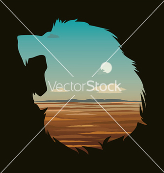 Free with lion head vector - Kostenloses vector #235791