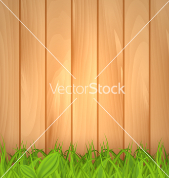 Free freshness spring green grass and wooden wall vector - Free vector #235801