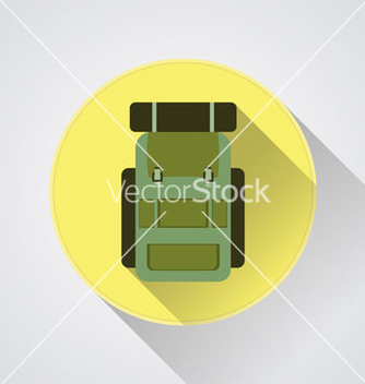 Free flat modern set of three hiking backpacks three vector - бесплатный vector #235811
