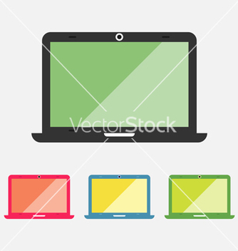 Free laptop icons set vector - vector #235971 gratis
