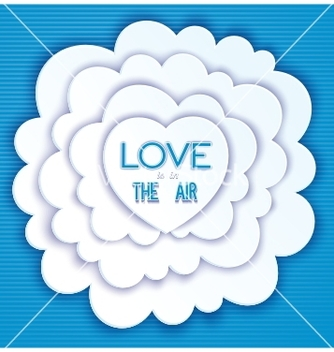 Free heart in the clouds love is in the air vector - Free vector #235991