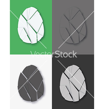 Free shattered easter egg set vector - Kostenloses vector #236091