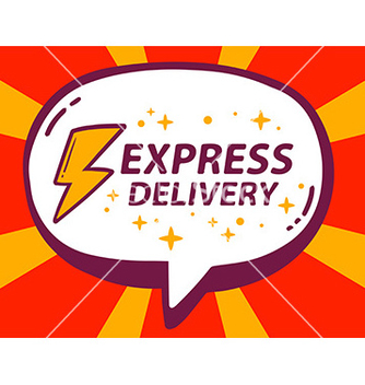Free speech bubble with icon of express delive vector - Kostenloses vector #236111