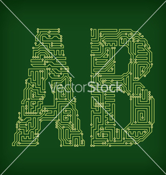 Free pcb letter and digits vector - Free vector #236231