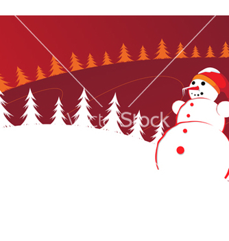 Free christmas background with snowman vector - бесплатный vector #236271