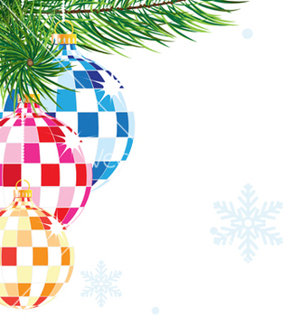 Free sparkling christmas decorations vector - Free vector #236371