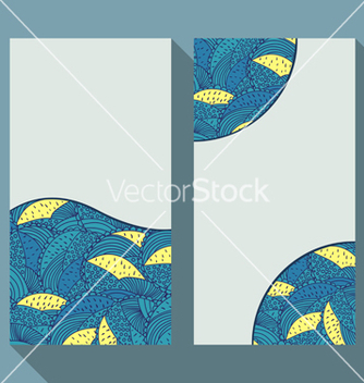 Free business card set with doodle floral circle patter vector - Free vector #236471