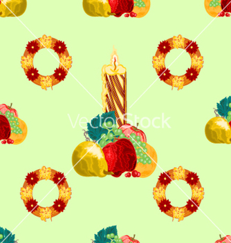 Free seamless texture christmas candle with fruit vector - Free vector #236481