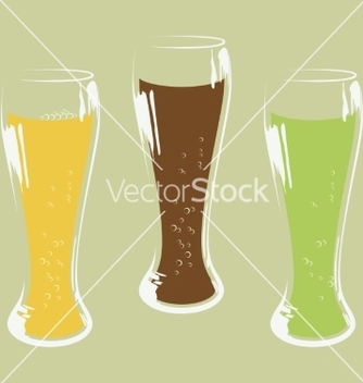 Free set of beer glass vector - Kostenloses vector #236541