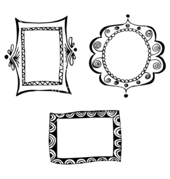 Free set of doodle frames vector - Free vector #236571