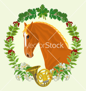 Free sorrel horse head of stallion vector - Kostenloses vector #236701