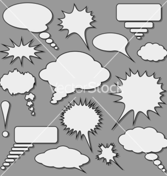 Free speech bubbles set vector - vector #236741 gratis