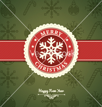 Free merry christmas card vector - vector gratuit #236771