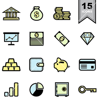 Free business icons set vector - vector #236781 gratis