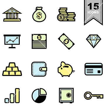 Free business icons set vector - vector gratuit #236781