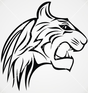 Free tiger head tattoo design vector - vector gratuit #236791