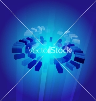 Free abstract blue core vector - Free vector #236811