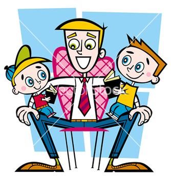 Free family daddy vector - Kostenloses vector #236821