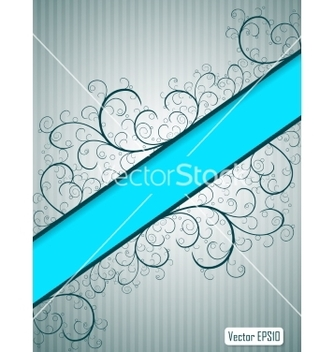 Free abstract floral background with blue banner and vector - Kostenloses vector #236871
