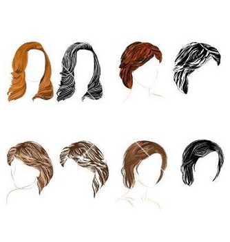 Free hair natural and silhouette vector - vector gratuit #236891