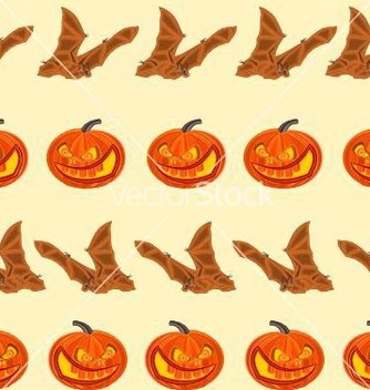 Free halloween seamless texture pumpkin and bat vector - Free vector #236941
