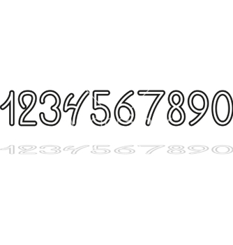 Free hand drawing numbers vector - vector gratuit #236961