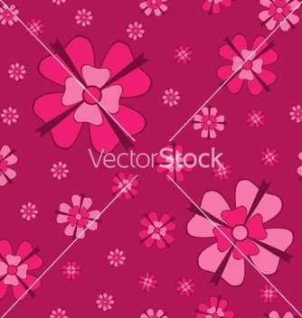 Free cowberry flowers with bows seamless pattern vector - бесплатный vector #237001