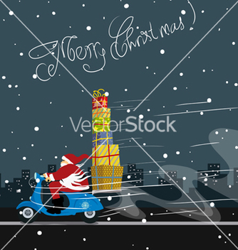 Free christmas greeting card vector - Kostenloses vector #237261