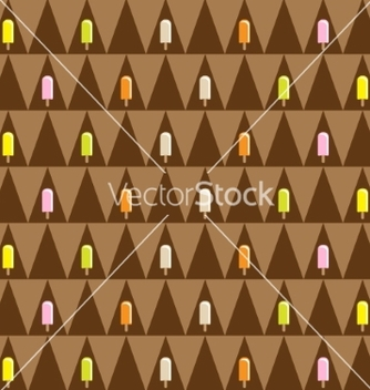 Free ice cream seamless pattern vector - Free vector #237441