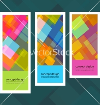 Free set of creative stickers with colored squares vector - Free vector #237461