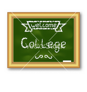 Free school blackboard with text on white background vector - Free vector #237531