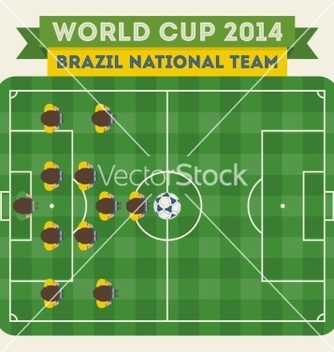 Free brazil national football team 2014 vector - vector gratuit #237541