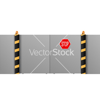 Free metal gate with a stop on a white background vector - Free vector #237621