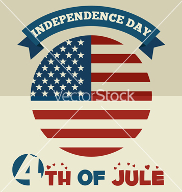 Free american independence day flat design vector - Free vector #237651