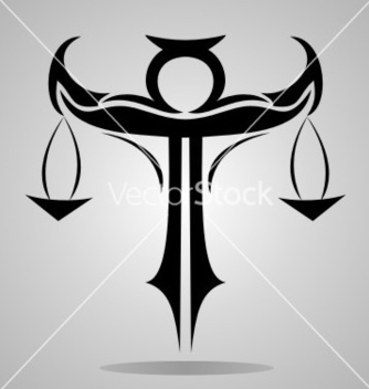 Free tribal libra signs vector - vector #237741 gratis