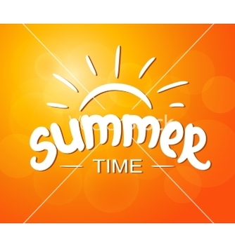 Free summer time typographic design vector - Kostenloses vector #237871