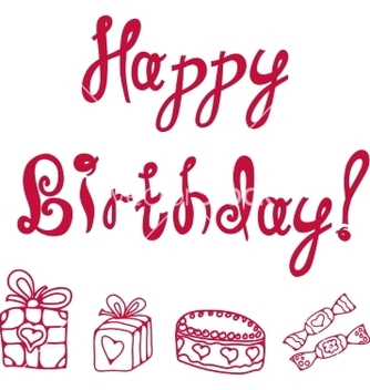 Free inscription happy birthday vector - Kostenloses vector #237971