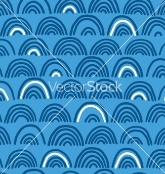 Free doodle sea waves seamless pattern vector - Free vector #237981