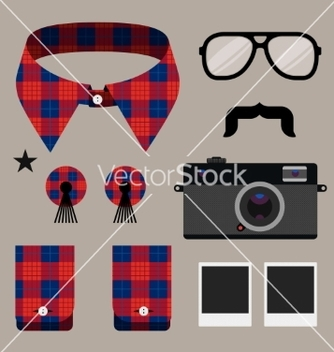 Free set of fashion hipster design element vector - Free vector #238181