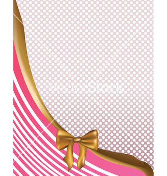 Free pink card with golden bow2 vector - Kostenloses vector #238281