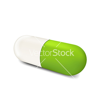 Free threedimensional herbal pill isolated on white vector - бесплатный vector #238321