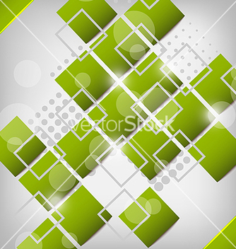 Free abstract creative green background with squares vector - vector #238421 gratis